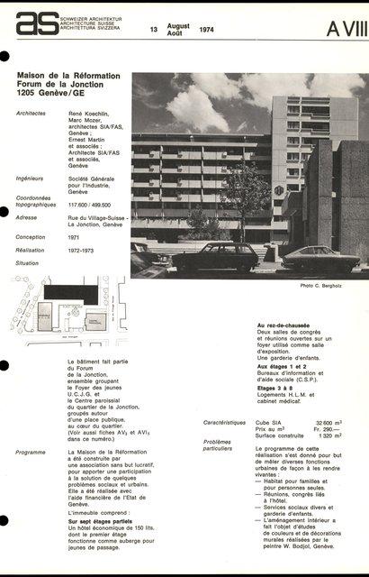 Maison de la Réformation, Forum de la Jonction, page 1