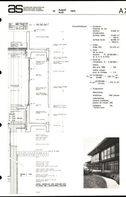Collège propédeutique de la Faculté des sciences, Cité universitaire de Lausanne-Dorigny, page 3