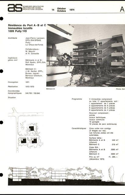 Résidence du Port A-B et C, Immeubles locatifs, page 1