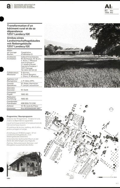 Transformation d'un bâtiment rural et de sa dépendance, page 1