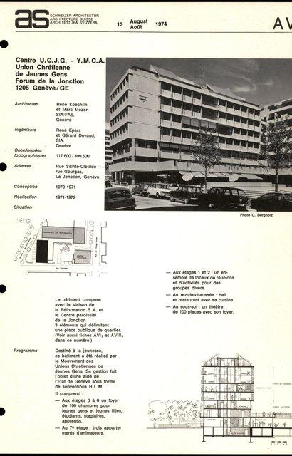 Centre U.C.J.G. - Y. M. C. A., Union Chrétiennne de Jeunes Gens, Forum de la Jonction, page 1