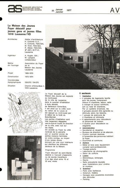 La Maison des Jeunes Foyer éducatif pour jeunes gens et jeunes filles, page 1