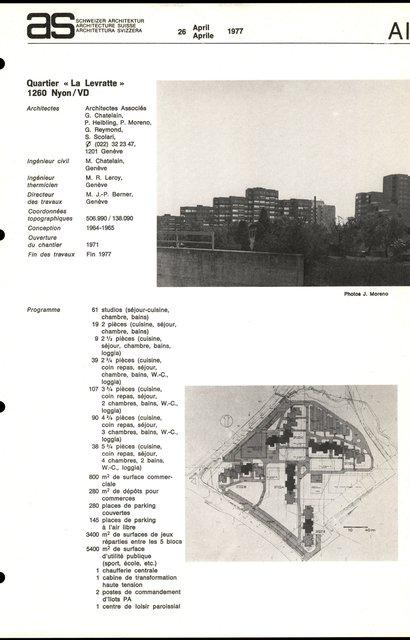 """Quartier """"La Levratte"""", page 1"""