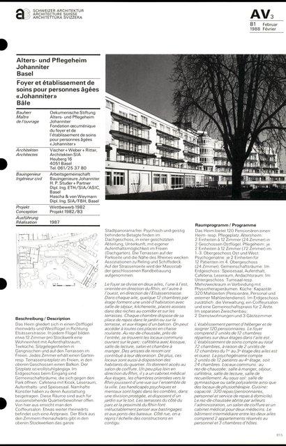 Foyer et établissement de soins pour personnes âgées «Johanniter», page 1