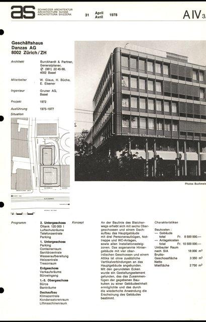 Geschäftshaus Danzas AG, page 1