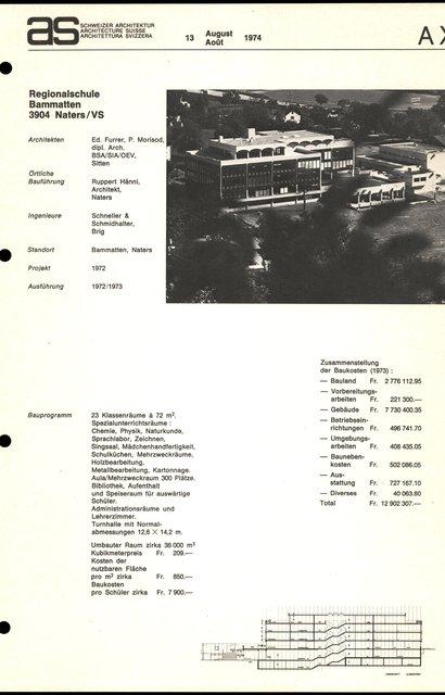 Regionalschule Bammatten, page 1