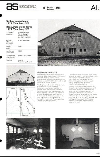 Rénovation d'une ferme, page 1