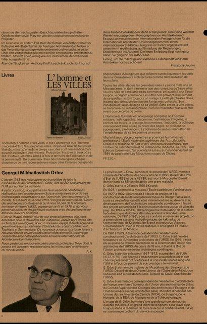L'homme et les villes, Michel Ragon, page 1