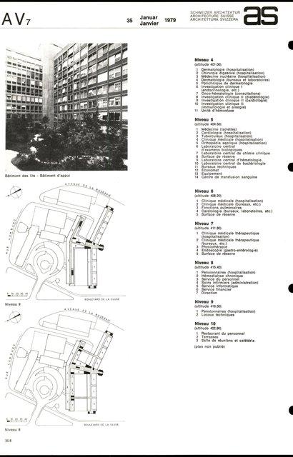 Reconstruction de l'Hôpital cantonal, page 6