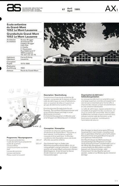 Ecole enfantine du Grand-Mont, page 1