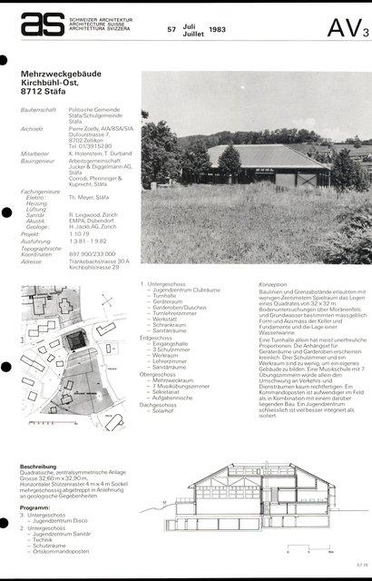 Mehrzweckgebäude Kirchbühl-Ost, page 1