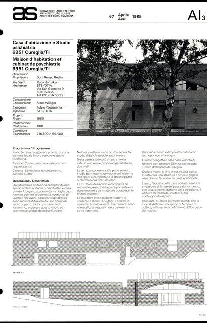 Maison d'habitation et cabinet de psychiatrie, page 1