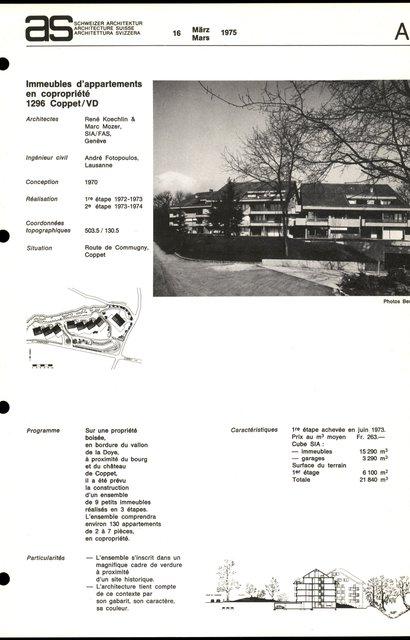 Immeubles d'appartements en copropriété, page 1