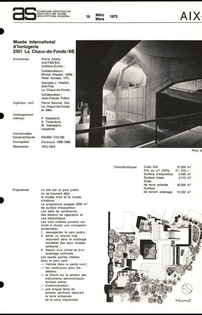 Musée international d'horlogerie, page 1