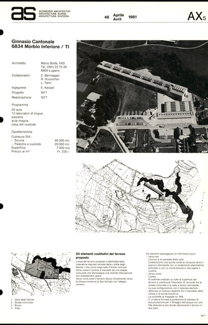 Ginnasio cantonale, page 1