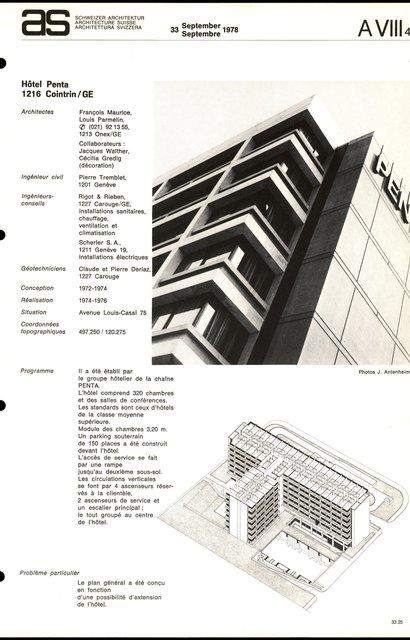 Hôtel Penta, page 1