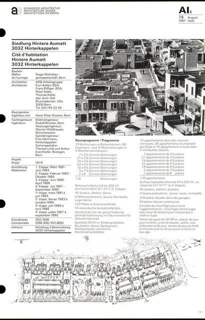 Cité d'habitation Hintere Aumatt, page 1