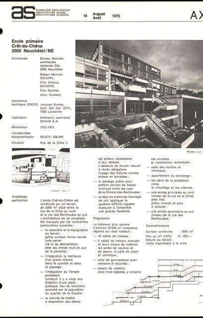 Ecole primaire Crêt-du-Chêne, page 1