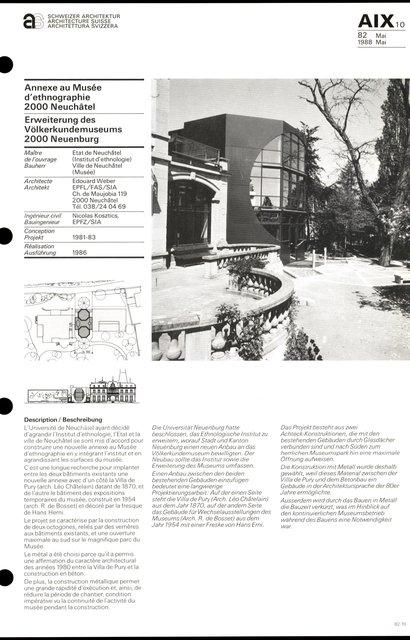 Annexe au Musée d'ethnographie, page 1