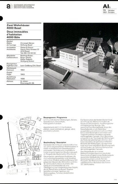 Deux immeubles d'habitation, page 1