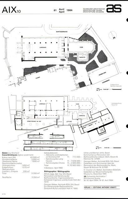 Restauration de la Barfüsserkirche et aménagement du Musée historique, page 4