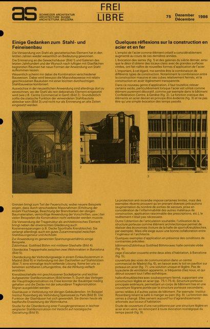 Quelques réflexions sur la construction en acier et en fer, page 1