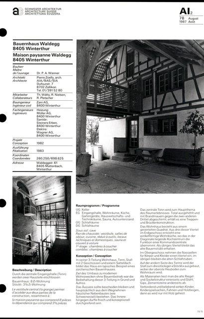 Maison paysanne Waldegg, page 1