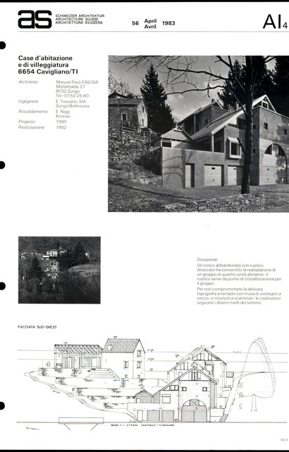 Casa d'abitazione e di villeggiatura, page 1