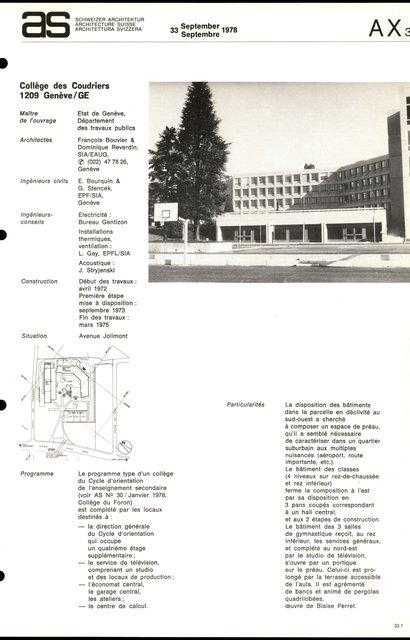 Collège des Coudriers, page 1