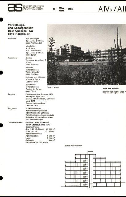 Verwaltungs- und Laborgebäude Dow Chemical AG, page 1