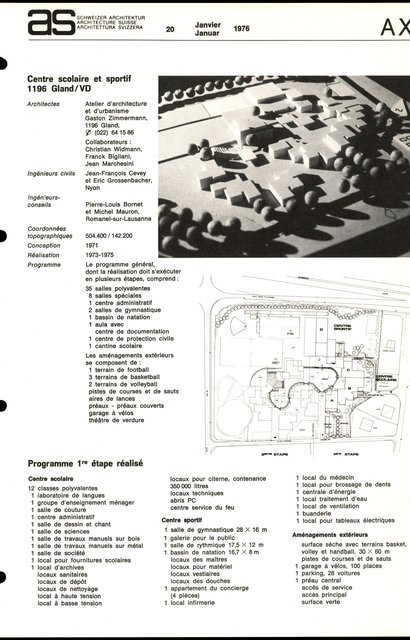 Centre scolaire et sportif, page 2