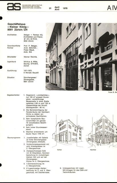 """Geschäftshaus """"Kleiner König"""", page 1"""