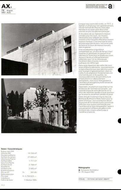Transformation et agrandissement de l'Ecole normale cantonale, page 4