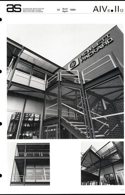 Siège européen Hewlett & Packard SA, page 5