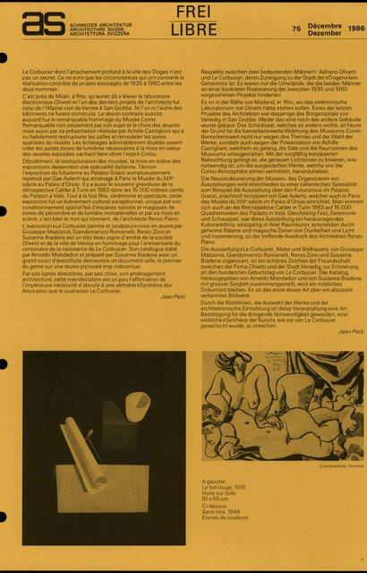 Le Corbusier, peintre et sculpteur L'exposition du centenaire au Musée Correr de Venise, page 2