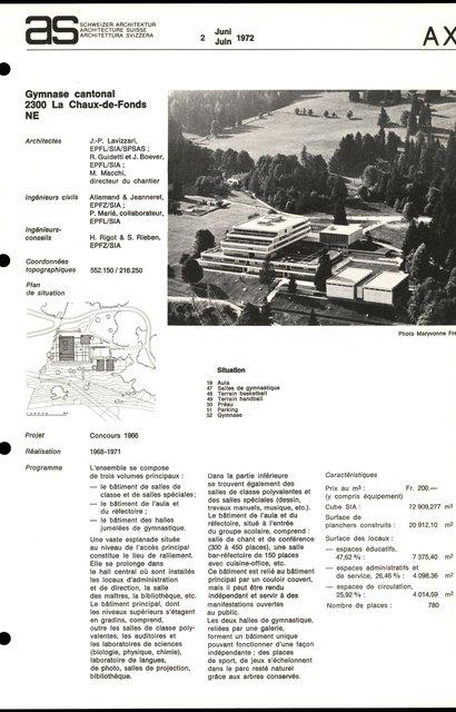 Gymnase cantonal, page 1