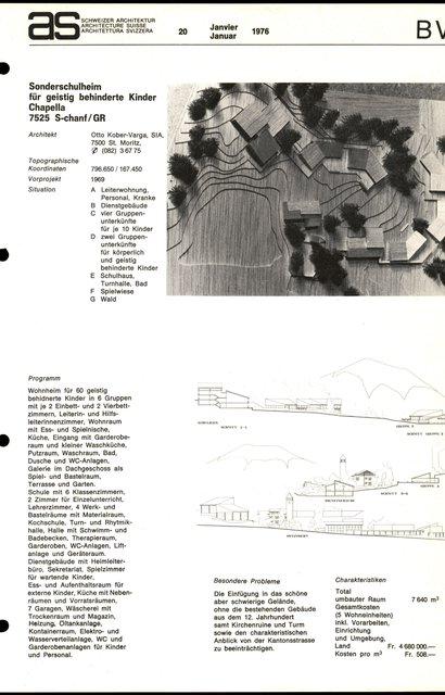 Sonderschulheim für geistig behinderte Kinder Chapella, page 1