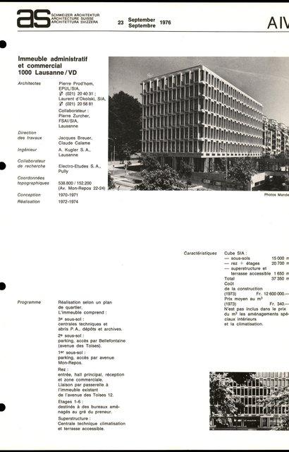 Immeuble administratif et commercial, page 1