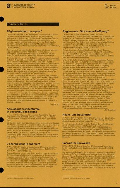 Réglementation: un espoir?, page 1