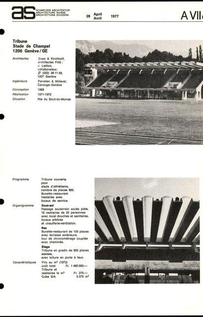 Tribune, Stade de Champel, page 1