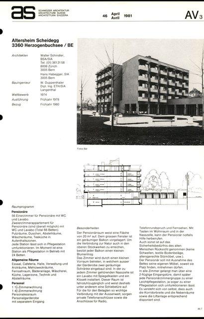 Altersheim Scheidegg, page 1
