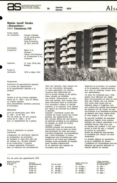"Module locatif Soreba ""Diamantines"", page 1"