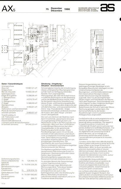 Agrandissement du Technicum de Winterthur Bibliothèque et restaurant universitaire, page 2