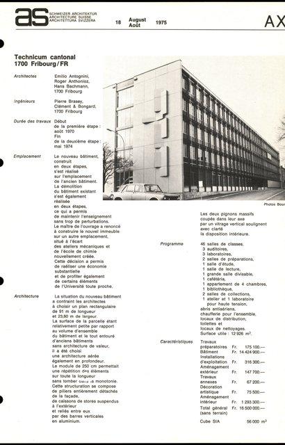 Technicum cantonal, page 1