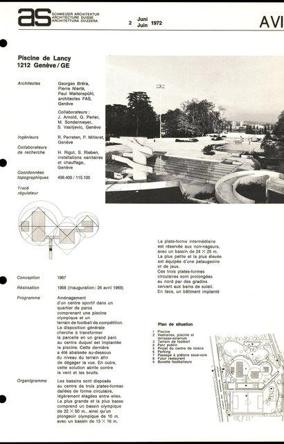 Piscine de Lancy, page 1
