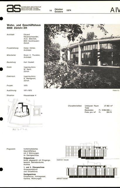 Wohn- und Geschäftshaus, page 1
