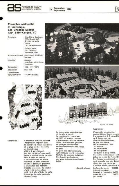 Ensemble résidentiel et touristique Les Chesaux-Dessus, page 1