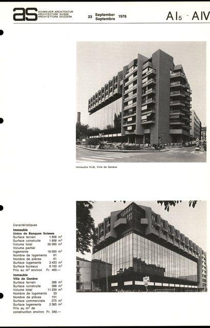 """Immeubles d'habitation et administratif """"Tour Lombard"""", page 3"""