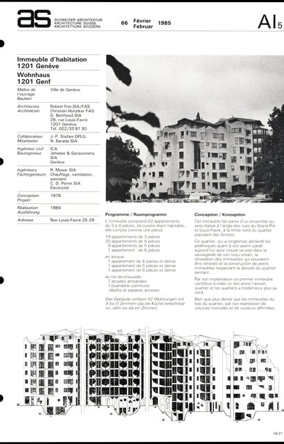 Immeuble d'habitation, page 1