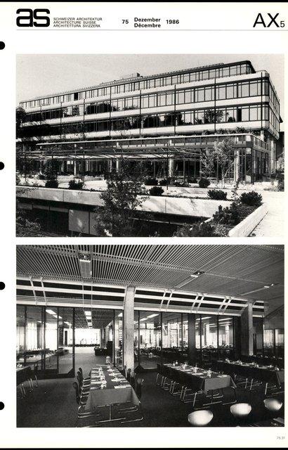 Agrandissement du Technicum de Winterthur Bibliothèque et restaurant universitaire, page 3